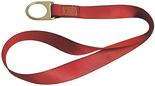 (MSA 10042792 PointGuard Polyester Residential Anchorage Connector Strap with D-Ring, 3-Feet )