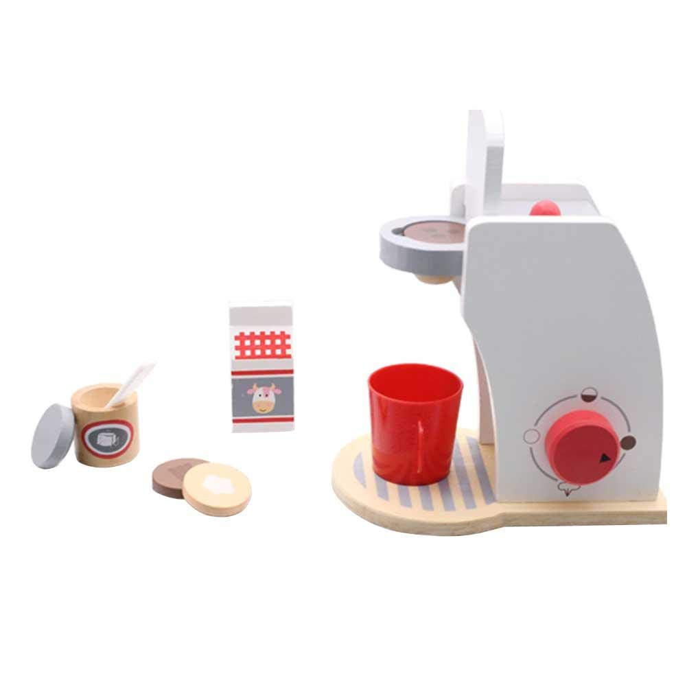Kinder Spielhaus  Spielzeug Mini Holz kaffeemaschine Pädagogisches Spielzeug Baby