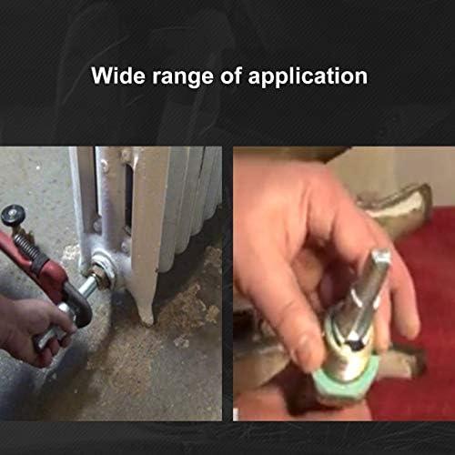 ラジエーターバルブ用ニップル用10-21mmラチェットハンドルハンドツール炭素鋼ラジエータースパナ実用的な段付き多用途-ブラック