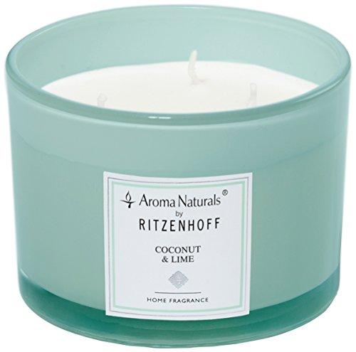 (Ritzenhoff Aroma Naturals Turquoise Scented Candle Jar-11x 11x 8cm)