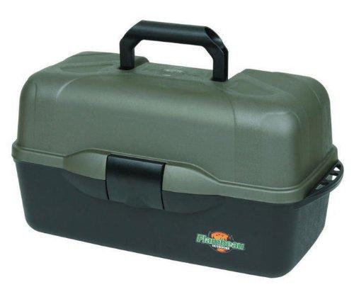 Flambeau Tackle XL 3-Tray Tackle Box, Black/Dark Gray