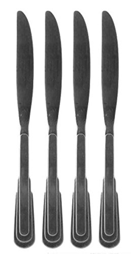 SET OF FOUR - Oneida Stainless Cityscape 1-piece dinner knives 9