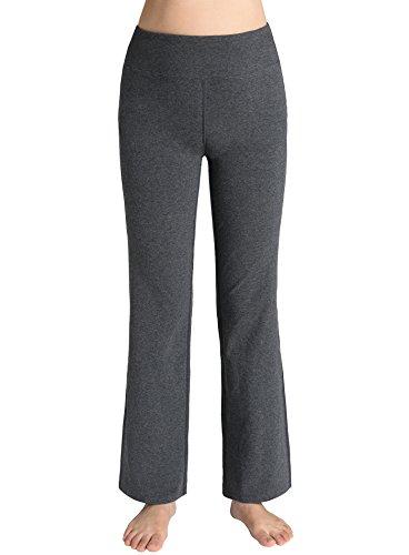 Weintee Women's Cotton Wide Leg Pants Flare Bootcut Yoga Pants M (Cotton Wide Leg Pants)