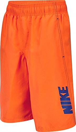 Nike Convoy 9 Volley Boys Swim Trunks (Small, Total Orange)