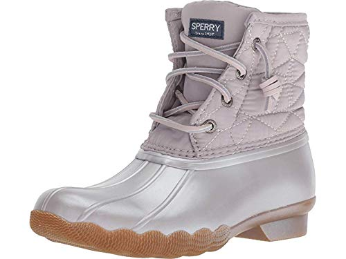Sperry Girls' Saltwater Boot Sneaker, Gull Grey, 4 Medium US Big Kid