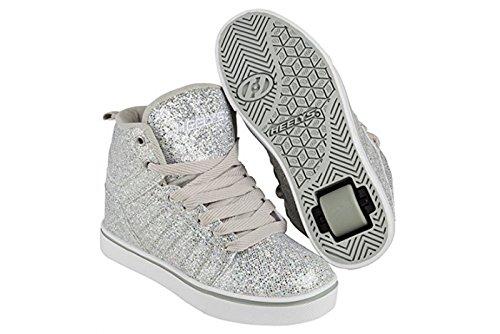 Heelys Uptown Baskets montantes Chaussures–Argent Disco Paillettes
