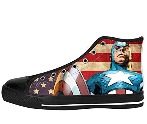 Vrouwen Canvas Hoge Schoenen Kapitein Amerika Ontwerp Kapitein Shoes04