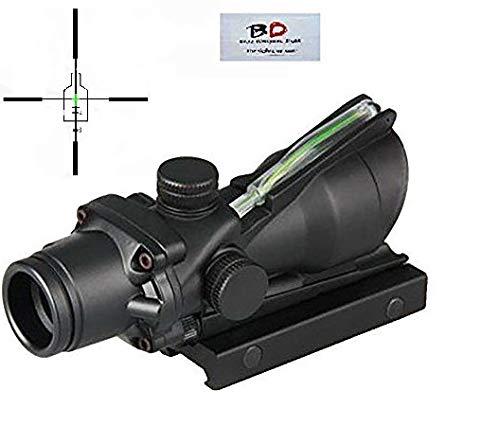 BD Tactical 4x32 GREEN Fiber Optic Weapon Sight Functional Fiber