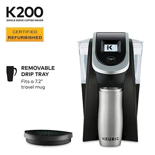 Keurig K200 Single-Serve Programmable, Black (Renewed)