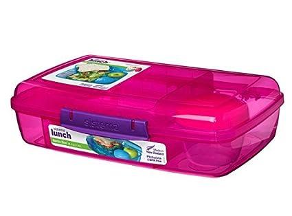 Sisteme Bento Box 5-fach unterteilte XL Lunchbox Gr/ün 416711