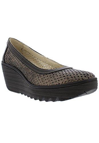 Graphite Yobe Fly Wedge Womens Black London Shoes Heel YPWYx4Cw7q