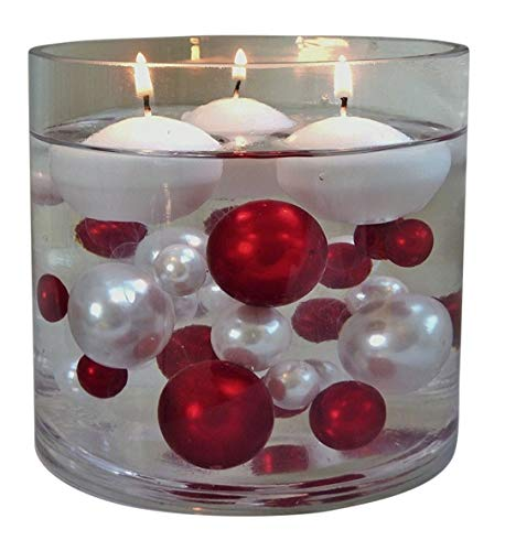 Vase Pearlfection White Floating Candles 1.8
