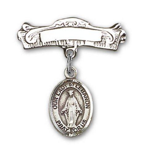Icecarats Créatrice De Bijoux En Argent Sterling O / L De Charme Liban Broches Badge Arc 7/8 X 7/8
