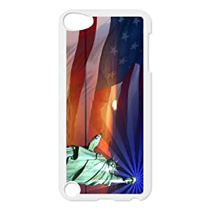 High Quality {YUXUAN-LARA CASE}Statue of Liberty With Flag FOR Ipod Touch 5 STYLE-16