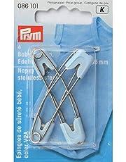 Prym 086101 baby-veiligheidsspeld, 55 mm, lichtblauw, roestvrij staal,