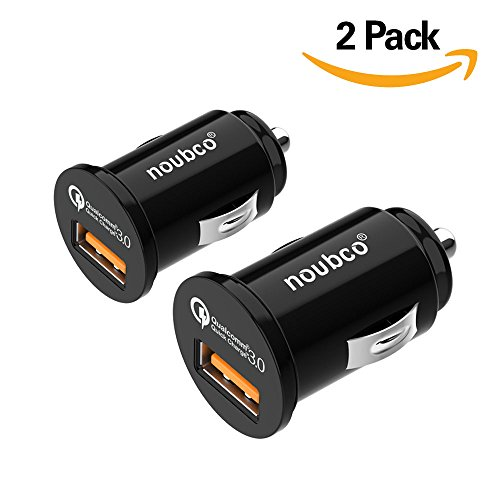 [2 Pack] Quick Charge 3.0 Car Charger, Flush Fit USB Charging Adapter for Samsung Galaxy S9/S8/S7/S6/Edge/Plus/Note, iPhone X/8/7/6s/Plus, iPad Air/Mini and More - Black -