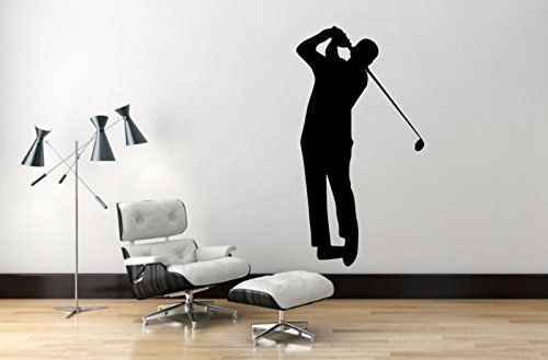 "Maxx Graphixx Golf Player Wall Decal - 45"" x 24"" Golf Player Silhouette Vinyl Decal - Golf Player 3"