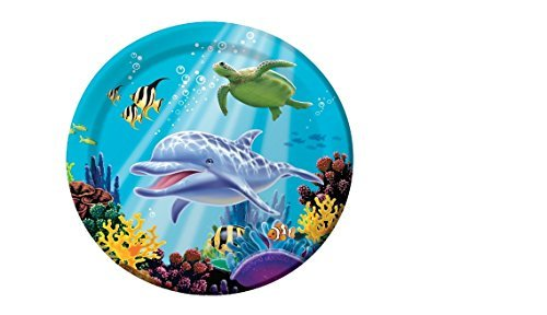 Creative Converting Ocean Party 16 Count Paper Dinner Plates ()
