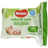 HUGGIES NATURAL CARE Fragrance-Free & Hypoallergenic Baby Wipes (Refill Pack, 184 Count)