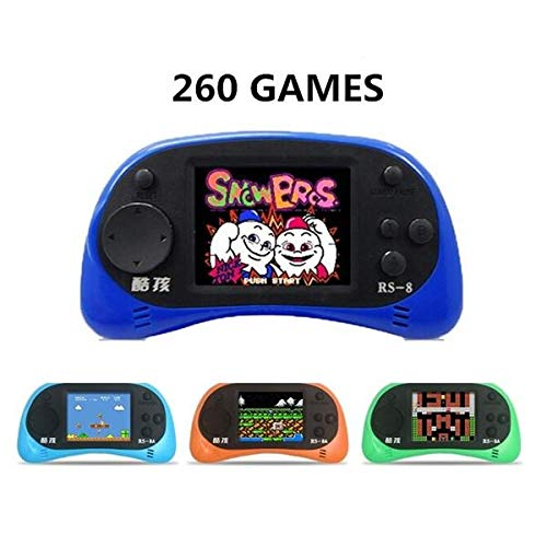 Handheld Game Console - Rs-8 Game Player - RS-8 8Bit 2.5inch Screen Built-in 260 Different Classic Games Handheld Game Consoles with AV Cable - Blue ( Classic Handheld Games ) by Unknown (Image #2)