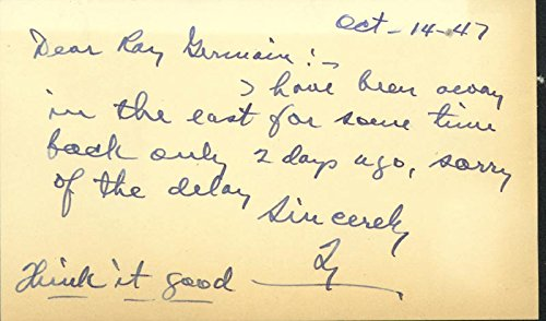 Ty Cobb - Autograph Letter Signed 10/14/1947
