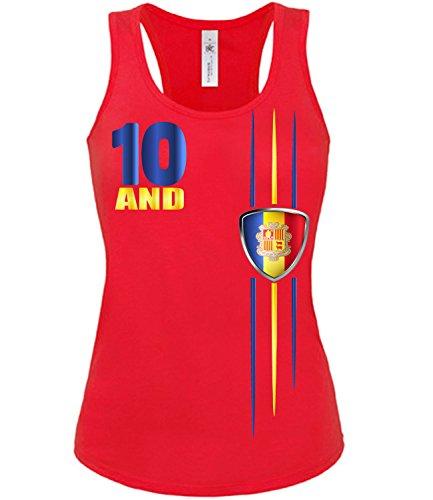 Copa del Mundo de fútbol - Campeonato de Europa de Fútbol - ANDORRA FANmujer camiseta Tamaño S to XXL varios colores S-XL Rojo