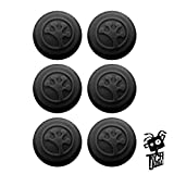 Grip-iT Analog Stick Covers for PS4, PS3, Xbox One, & Xbox 360 (6-Pack Black) by Total Control
