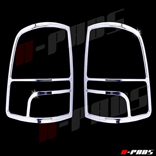 A-PADS Chrome Tail Light Covers for Dodge RAM [All Models] 2009-2017 - Rear Back Lights Pair Taillights