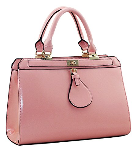 Ubasics Women's Zip Leather Container Pink One Size