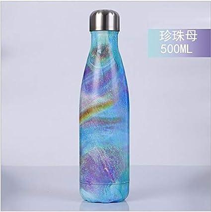 Mdsfe 500 / 1000ml Termo de Doble Pared con Aislamiento de Acero Inoxidable Botella de Agua Botella Deportiva/Taza Termo - 1.0L, 18