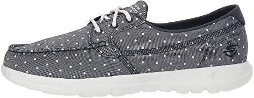 Women's GO Walk Lite-Soleil Boat Shoe,navy/white,8 M US ()