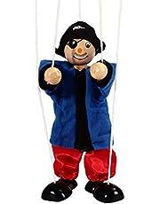 Daxoon Pull String Puppet Pirate Kids marioneta de Madera para Juguete Interactivo Entre Padres e Hijos (Color Aleatorio)