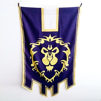 QINF World of Warcraft Alliance Cosplay Flag (Warcraft Of Banner World)