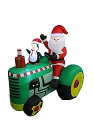 5.3 Foot Tall Christmas Inflatable Santa Claus Drive...