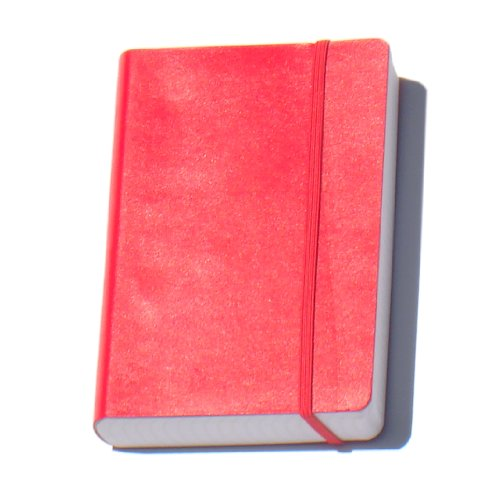 """Miquelrius Flexible Journal, 300 Sheets/600 Lined Pages, Red (6"""" x 8"""")"""