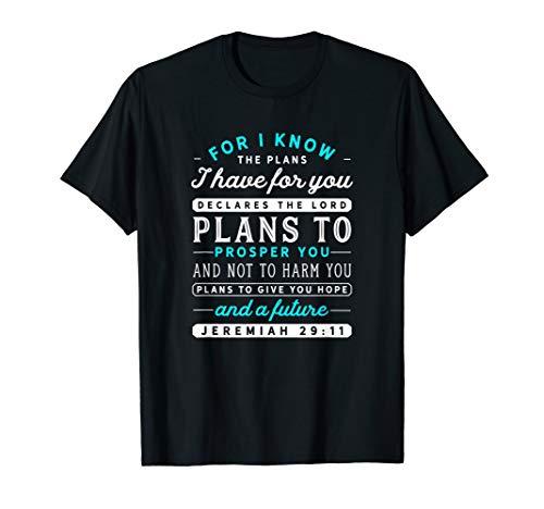 Christian T Shirts Jeremiah 29 11 Hope Bible Verse Tshirt