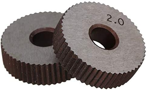 LOYAL TECHNOLOGY-PACKAGE Rändelwerkzeug 2ST 2.0mm Rad Knurl HSS Wälzfräser Straight Grain Rad Knurled Lathe Prägeradabschnitt Werkzeugmaschinen Zubehör Hebt Getriebe