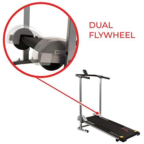 Sunny Health & Fitness SF-T1407M Manual Walking Treadmill, Gray by Sunny Health & Fitness (Image #5)