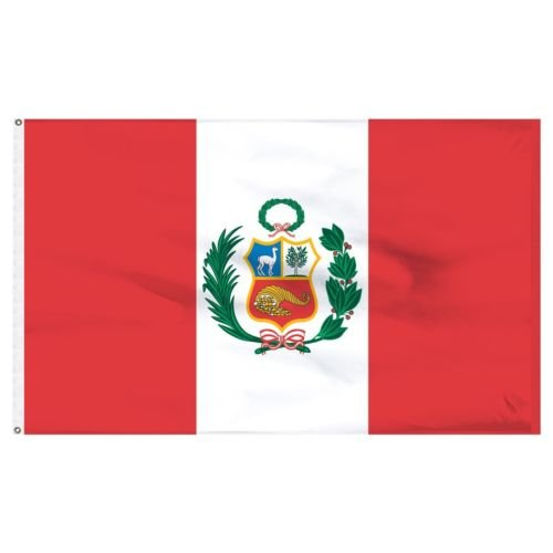 They can be used indoors or outdoors.3x5 Peru Flag Peruvian