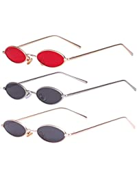 Aooffiv Vintage Sunglasses Gold Gold Silver Red Grey Grey Noticeable