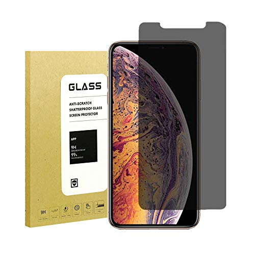 [2Pack] for iPhone Xs Max Privacy Screen Protector,Webmi[Full Coverage][3D Touch][9H Hardness][Anti-Scratch] Tempered Glass Anti-Spy Screen Protector for iPhone Xs MAX