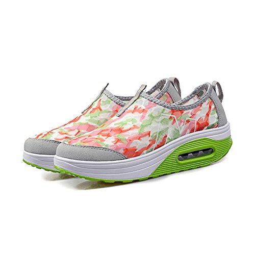 Respirant Semelles Chaussures compensé Color Confortable Toe Talon Round Taille 39 Shakes Mesh Légères Sneakers Buckle Wearable C vBdxAdn7qw