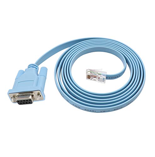 Cisco Console Cable 9-pin DB9 Female Serial RS232 Port to RJ45 Male Cat5 Ethernet LAN Rollover Console Cable Switch Cable Cisco (DB9P to TJ45) ()