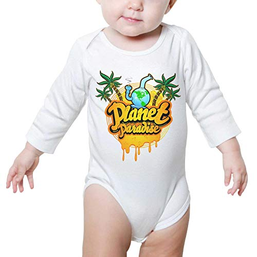 Planet Paradise Global Marijuana March Cannabis Long Sleeve Baby Onesies Baby Jumpsuit