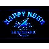 Landshark Lager Beer Happy Hour Bar LED Neon Sign Man Cave 658-B