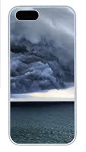 Apple iPhone 5S Case and Cover - Storm clouds Custom Polycarbonate Case Cover Compatible with iPhone 5S and iPhone 5 - White