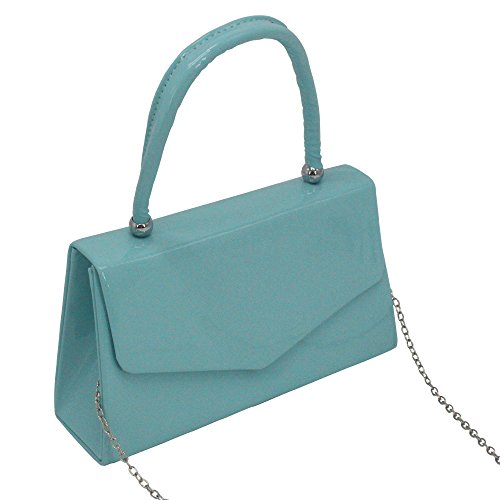 Sky Classic Party Purse Desgin Purple Wedding Clutch Envelope Evening Handbag Ladies Cckuu Blue Handle pqBw57F7