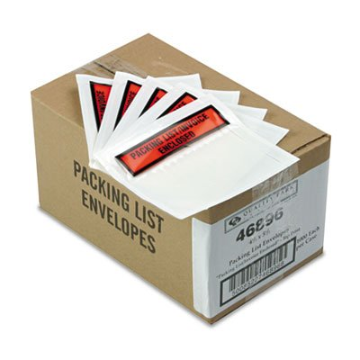QUA46896 - Top-Print Self-Adhesive Packing List Envelope by Quality Park