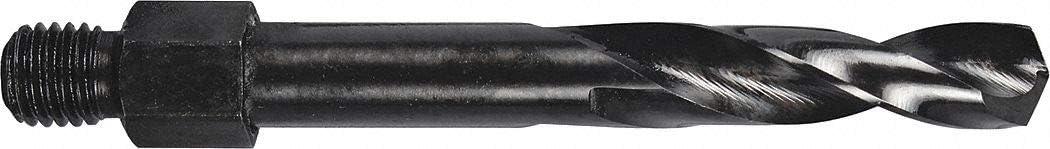 135/° Drill Bit Point Angle High Speed Steel Drill Bit Size #10 Pack of 10 Threaded Shank Drill Bit