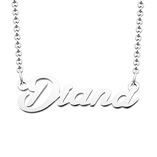 SexyMandala Personalized Name Necklace Custom Made Sterling Silver Pendant Women Choker Jewelry Same Day Shipping Valentine's Gift for Diana